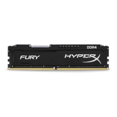 Memória HyperX Fury 8GB 2666MHz DDR4 CL16 Preto - HX426C16FB2/8