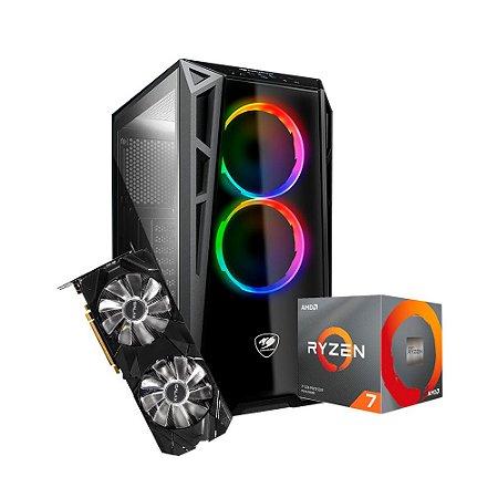 Pc Gamer PlayerID Advanced - AMD RYZEN 7 3700X / GEFORCE RTX 2060 6GB / DDR4 16GB 3600Mhz / SSD 480GB M2 / 650W