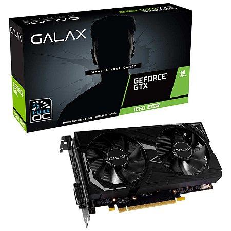 Placa de Vídeo Galax NVIDIA GeForce GTX 1650 4GB SUPER EX 1CLICK OC G6 128B GALAX - 65SQL8DS61EX