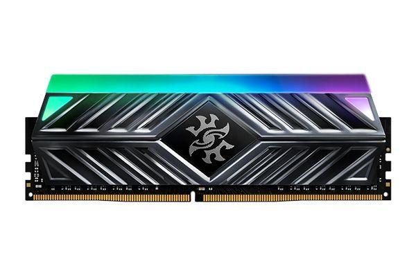Memória A-Data XPG 8GB 3000MHz DDR4 CL16 DIMM RGB Preto AX4U300038G16-SB41