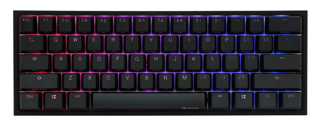 Teclado Mecânico Ducky Channel One 2 Mini v2 RGB Backlit Cherry Red - DKON2061ST-RUSPDAZT1