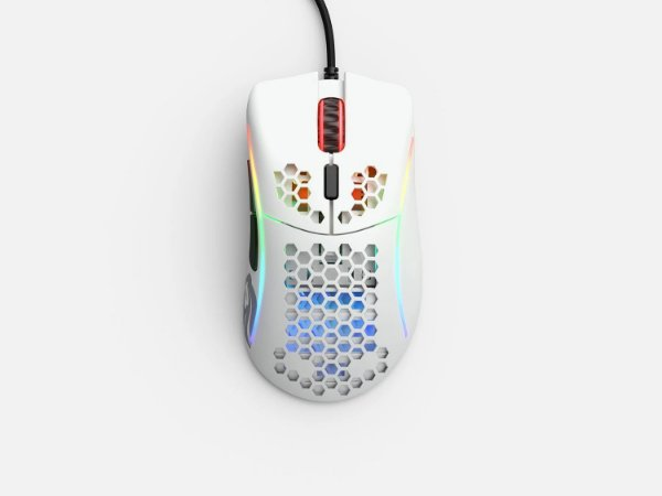 Mouse Gamer Glorious Gaming Model D- Minus Branco Fosco - GLO-MS-DM-MW