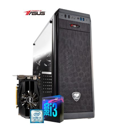 Computador Gamer PlayerID, série New Player, I3 9100F, GTX 1650 4GB, 8GB RAM, SSD 240GB - CG-PID-NP-01D