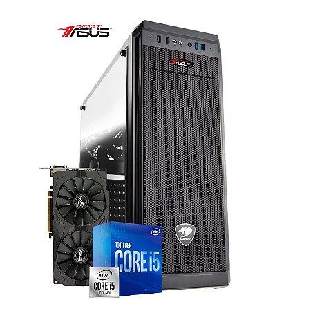Computador Gamer PlayerID, série New Player, I5 10400F, RX 570 OC 8GB, 8GB RAM, SSD 240GB - CG-PID-NP-01E
