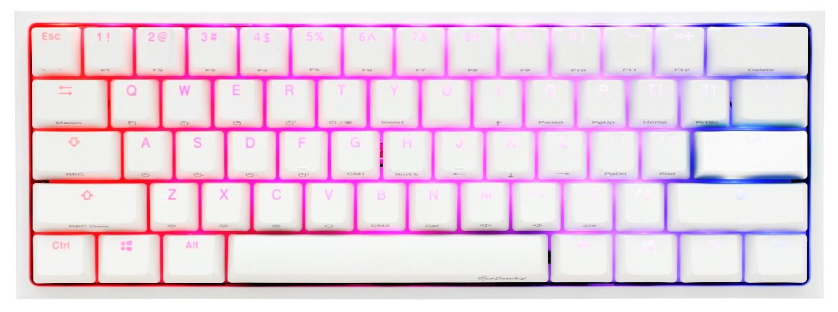 Teclado Mecânico Ducky Channel One 2 Mini Pure White v2 RGB Cherry Brown - DKON2061ST-BUSPDWWT1
