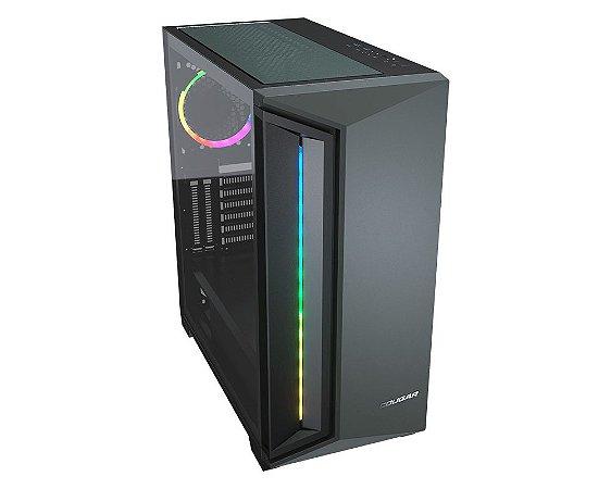 Gabinete Gamer Cougar DarkBlader X7, Mid T, Vidro Temp, RGB, Midnight Green, 1 Fan - 385UM30.0005