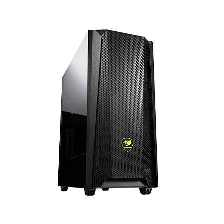 Gabinete Gamer Cougar MX660 Mesh, Black, Mid Tower, 1 Fan, Suporte GPU Vertical