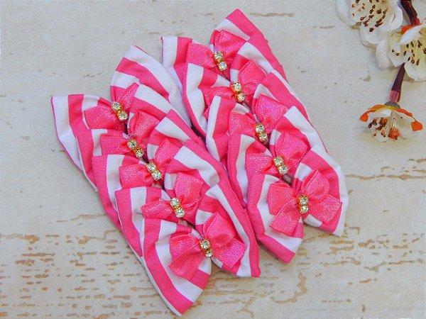 JOY LAÇOS DE TECIDO - Listras Pink