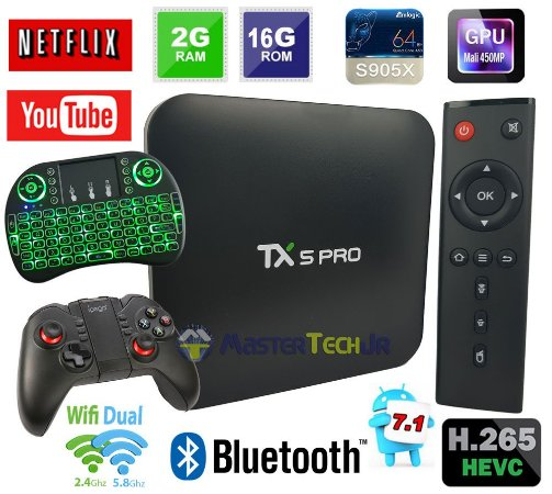 Android Tv Box Tx5 Pro 4k Quadcore 2gb/16gb Bluetooth + Ipega 9068 +Teclado LED