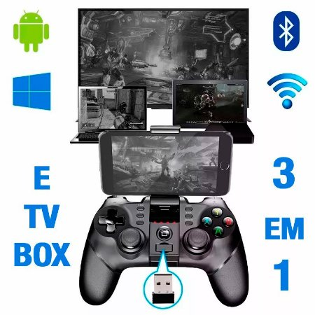 Controle Joystick Bluetooth Wireless Ipega Pg-9076 3 In 1