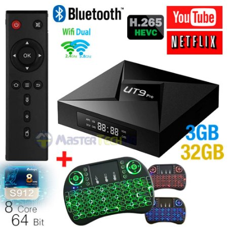 Tv Box Ut9 Pro 4k 3gb/32gb Bluetooth Android 7.1 + Teclado Led