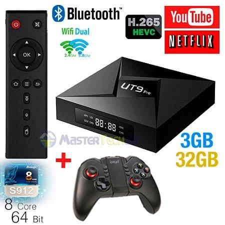 Tv Box Ut9 Pro 4k Octacore 3gb/32gb Bluetooth Android 7.1 + ipega 9068