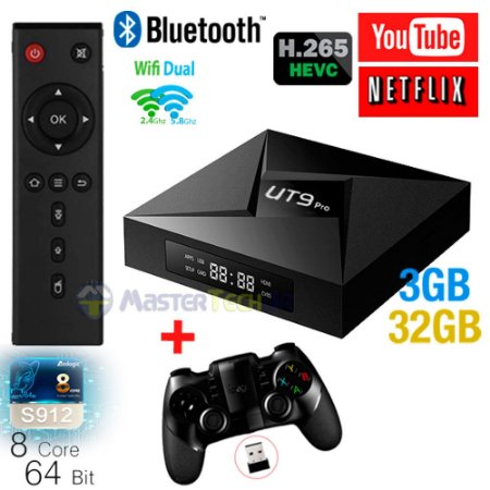 Tv Box Ut9 Pro 4k Octacore 3gb/32gb Bluetooth Android 7.1 + ipega 9076