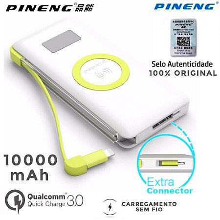 Carregador Pineng Sem Fio 10.000 mah Qi Iphone X 8 S9 S8 S7