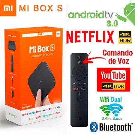 Xiaomi Mi Box S (LANÇAMENTO 2019) 4K HDR Android TV 8.1 com Google Cast