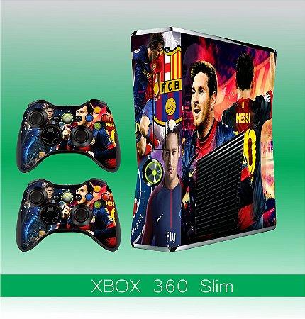 Capa skin xbox 360 slim- Messi&Neymar