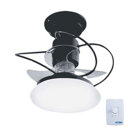 Ventilador de Teto Treviso Atenas Preto C/ LED 18W Bivolt