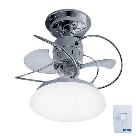 Ventilador de Teto Treviso Atenas Cromado  C/ LED 18W Bivolt