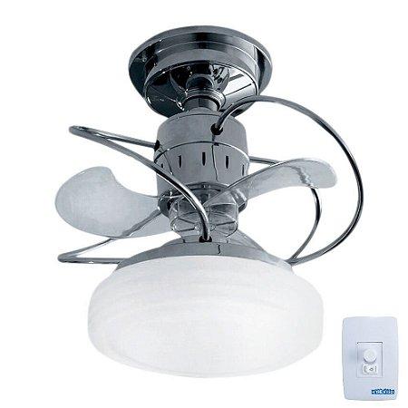 Ventilador de Teto Treviso Bali Cromado C/ LED 18W Bivolt