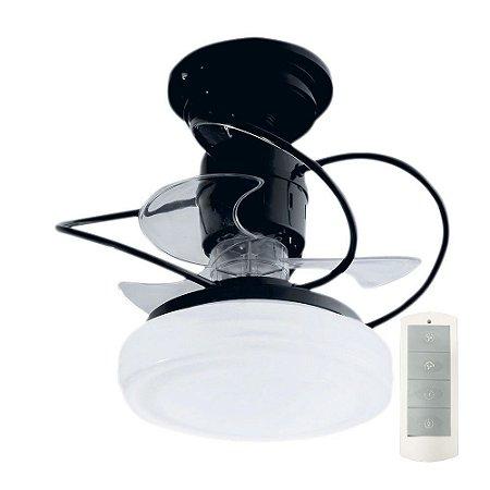 Ventilador de Teto Treviso Bali Preto C/ Controle Remoto e LED 18W Bivolt