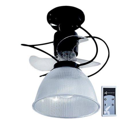 Ventilador de Teto Treviso Camburi Preto C/ Controle Remoto