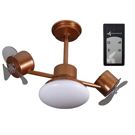 Ventilador de Teto Treviso Infinit Plus Cobre C/ Controle Remoto e LED18W