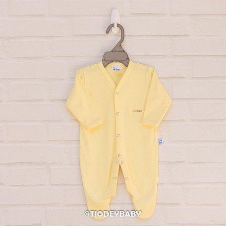 Macacão Longo Suedine Amarelo