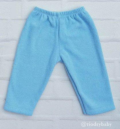 Calça Bucklê  Peluciada Azul Bebê