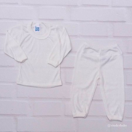 Conjunto Camiseta Manga Longa Poliviscose Pérola