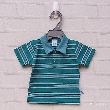 Camisa Polo Listras Verde