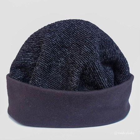 Gorro Touca Tweed Preto