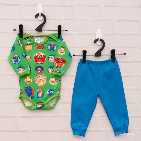 Conjunto Monstrinhos Blue
