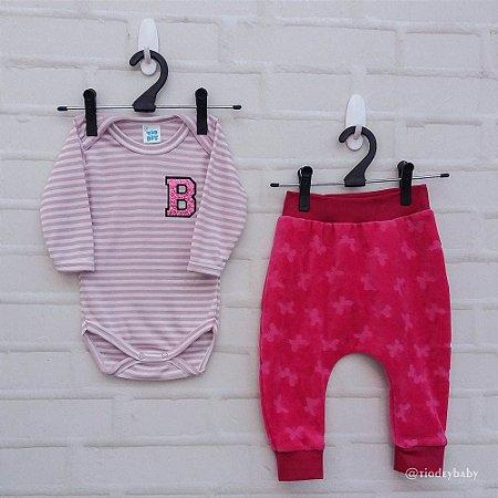 Conjunto Saruel Listras Pink