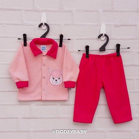 Conjunto Bucklê Rosa Pink Lhama