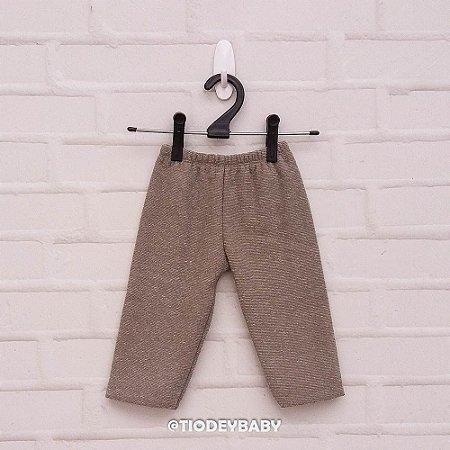 Calça  Peluciada Cinza Tweed