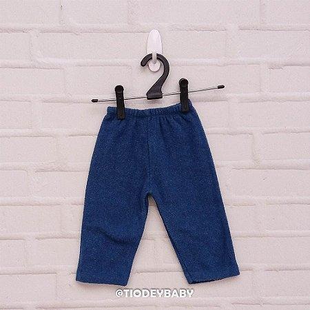 Calça Bucklê  Peluciada Azul Chumbo