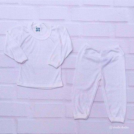 Conjunto Pijama Poliviscose Branco
