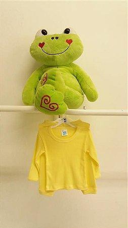 Conjunto Blusa + Calça Canelado Amarelo