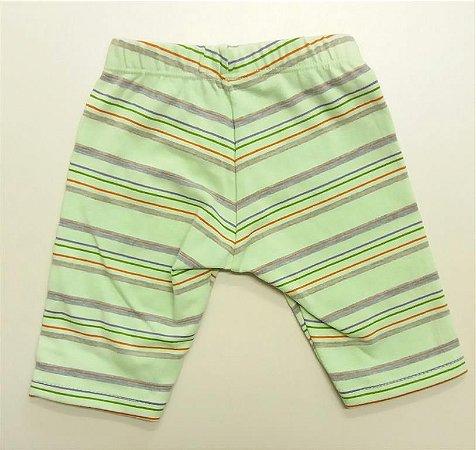Shorts Legging Verde Claro Listras
