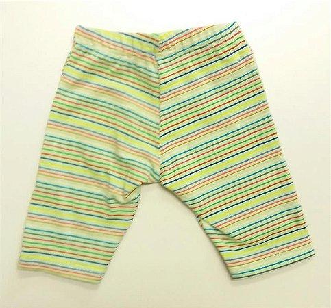 Shorts Legging Verde Listras
