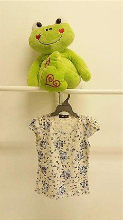 Camiseta Flores Azuis