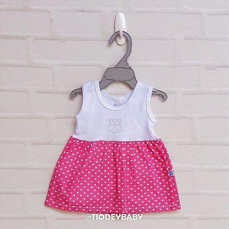 Vestidinho Coração Pink