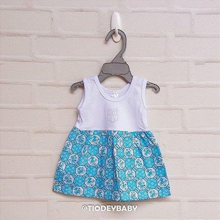 Vestidinho Floral Azulzinho