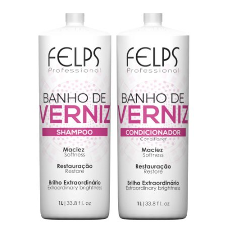 Felps Banho de Verniz Kit Duo Brilho 2x1000mL