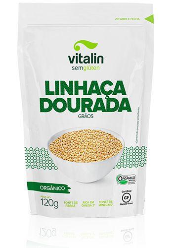 Linhaça Dourada Grãos Orgânico Vitalin 120g