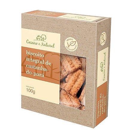 Biscoito Integral de Castanha do Pará Caseiro e Natural 100g