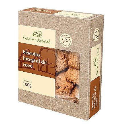Biscoito Integral de Coco Caseiro e Natural 100g
