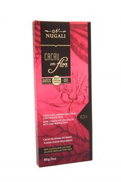 Tablete Cacau em Flor 63% Cacau com Pimenta Rosa Nugali