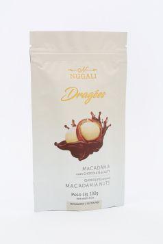 Dragée Macadâmia com Chocolate ao Leite Nugali