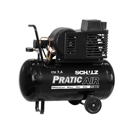 Compressor Pratic Air CSI 7,4/50 com rodas